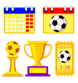 colorful soccer championship waiting elements set vector image vector image