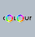 colour lettering with colourful radial gradient vector image vector image
