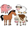 country animals collection 2 vector image