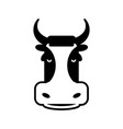 cow head sign bull face symbol farm animal vector image