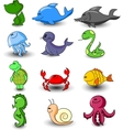 Cute Animal Icon Set vector image