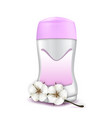 deodorant blank package and aromatic flower vector image vector image