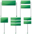 different designs of green signs vector image