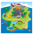 Dinosaurs Island vector image vector image