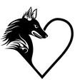 dog heart love pet tattoo print fort-shirt pet vector image vector image