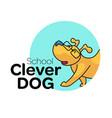 dog school logo vector image vector image