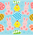easter seamless background with funny rabbits and vector image vector image