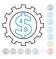 financial industry contour icon vector image vector image
