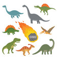 happy cartoon dinosaur vector image vector image