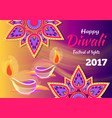 happy diwali festival of lights 2017 poster vector image vector image