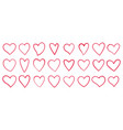 heart love romantic valentine day line icon vector image