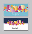 horisontall abstract vivid card vector image vector image