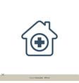 hospital icon logo template design eps 10 vector image vector image