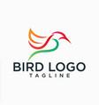 hummingbird lineart logo design stock vector image vector image
