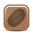 icon with the image of the coffee bean vector image vector image