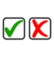 icons yes and no voting for and against vector image vector image
