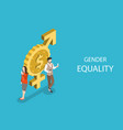 isometric flat concept gender equality vector image