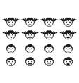 kid child and bafaces avatars symbols set vector image