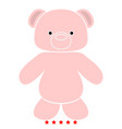 little bear icon flat style vector image