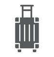 luggage glyph icon travel and tourism travel bag vector image vector image
