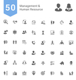 Management and Human Resource Solid Icon Set vector image vector image