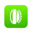 massage brush icon green vector image vector image