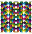 Muliticolored cubes pattern vector image vector image