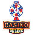 online casino logo lucky fortune wheel isolated vector image vector image