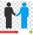 Persons Handshake Eps Icon vector image vector image