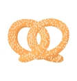 Pretzel cartoon icon vector image