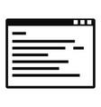 program window icon simple style vector image