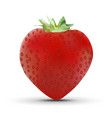 realistic strawberry isolated on white background vector image