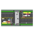 Road infographics Plot road highway street vector image vector image