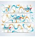 set horizontal banners background vector image