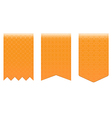 set orange bookmarks vector image vector image