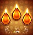 shiny diwali diya vector image vector image