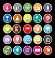SME flat icons with long shadow vector image vector image