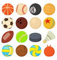 sport balls icons set play types cartoon style vector image vector image
