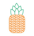 tropical fruit pineapple fresh ripe icon vector image