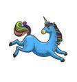 unicorn sketch vector image