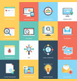 web and seo flat design icons vector image vector image