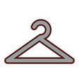 clothes hook isolated icon vector image