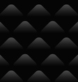 Black Wave Pattern Seamless Background vector image