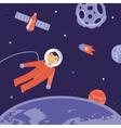cartoon astronaut in space vector image
