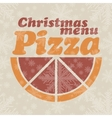 Abstract Christmas menu for Pizza vector image
