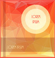 abstract orangeyellow booklet or vector image vector image