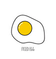 appetizing cooked fried egg vector image vector image