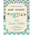 Beautiful baby boy shower card