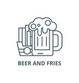 beer and fries line icon beer and fries vector image