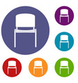 black office chair icons set vector image vector image